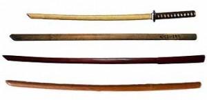 Différentes formes du bokken